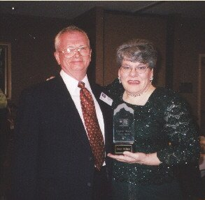 Flo Mo winner Ginny McBlain and her wonderful husband, David