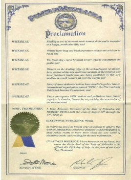 Nebraska Governor proclamation