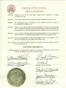 Omaha City Council proclamation