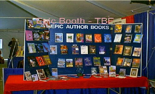 The Author display at the TExas Book Festival.
